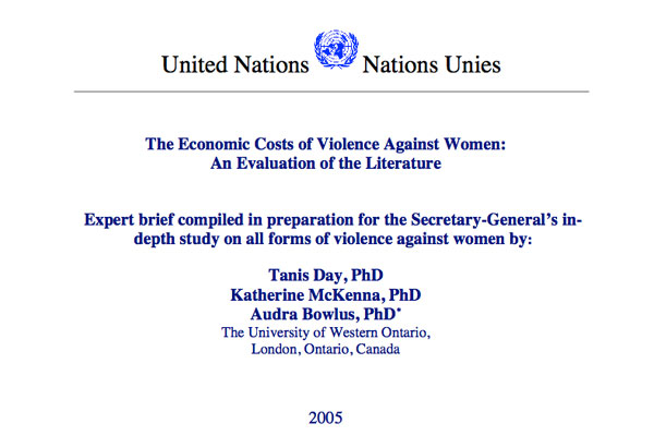 UN report: The economic cost of #VAW | CARVE
