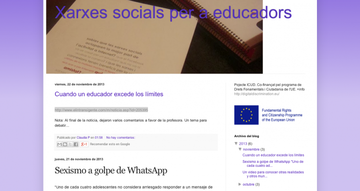 Los educadores han creado un blog